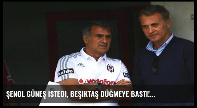 Şenol Güneş istedi, Beşiktaş düğmeye bastı!