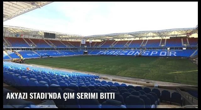 Akyazı Stadı'nda çim serimi bitti
