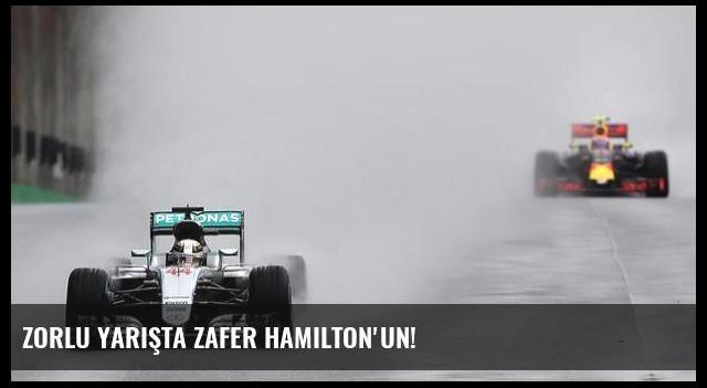 Zorlu yarışta zafer Hamilton'un!
