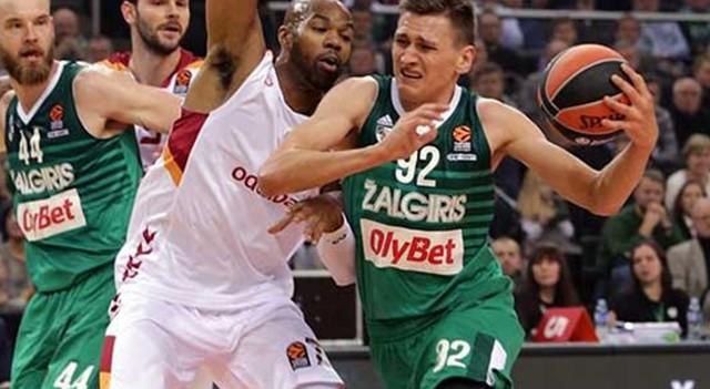 Zalgiris - Galatasaray Odeabank maç sonucu: 87-75