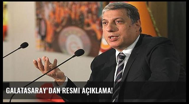 Galatasaray'dan resmi açıklama!