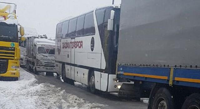 Süper Lig ekibi Gaziantepspor karda mahsur kaldı