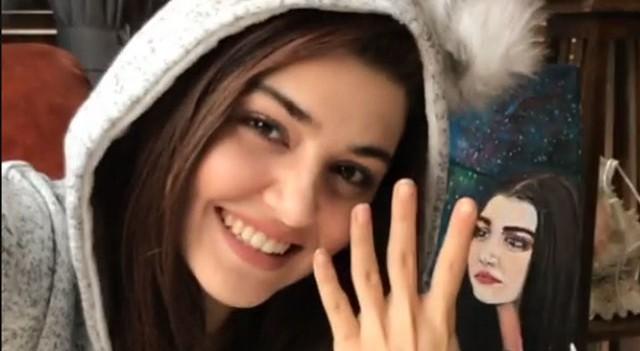 Hande Erçel'in 4 milyon sevinci