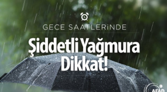 AFAD'dan Marmara'ya uyarı