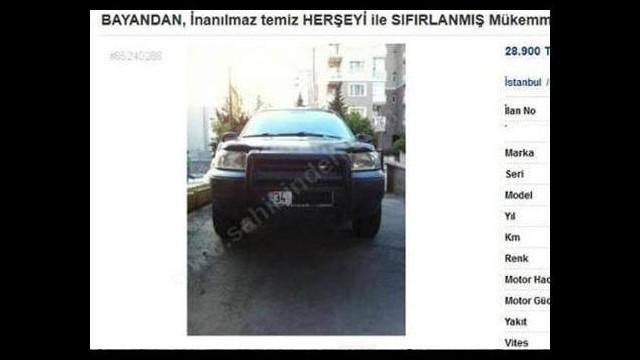 Böyle satılık araba ilanı görülmedi! İnanamayacaksınız...
