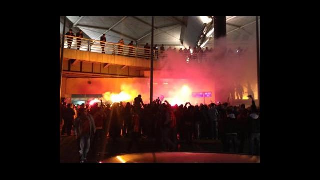 Galatasaray Taraftarından Özel Karşılama