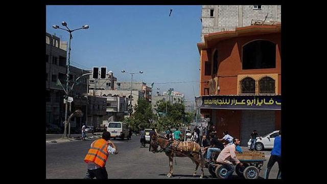 Gazze'de füze dramı