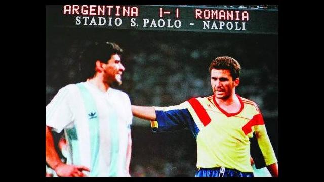 Hagi ve Maradona birbirlerine girdiler!