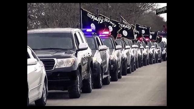 IŞİD'den lüks araçlarla gövde gösterisi