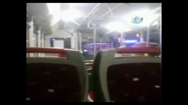 Otobüs şoförü yolcuyu dövdü