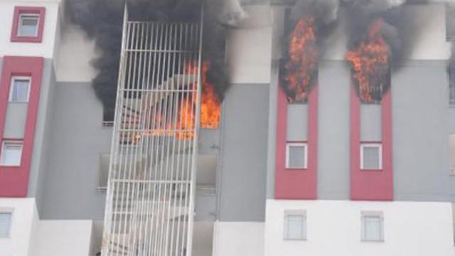 Adana'da korkutan yangın!