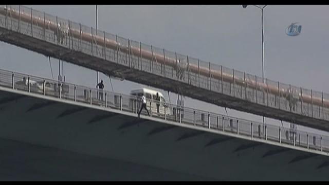 Boğaziçi Köprüsü'nde 5 saat süren intihar girişimi