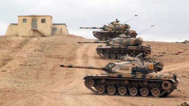 Türk tankları bomba yağdırdı