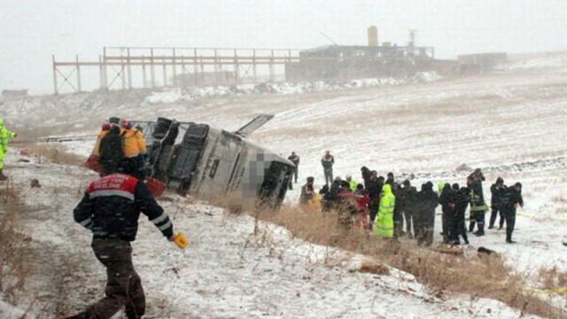 Otobüs kazası sonrası acı tablo!
