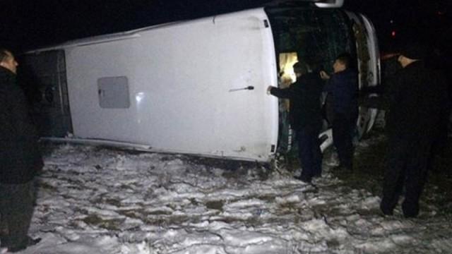 Elazığ'da yolcu otobüsü devrildi! Çok sayıda yaralı var..