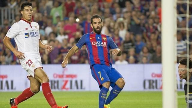 Barcelona-Sevilla maçında Arda Turan'dan gol şov