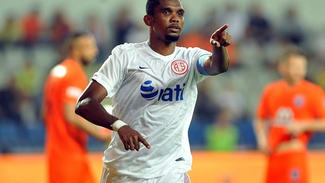 Antalyaspor maçtayken Samuel Eto'o idmana çıktı