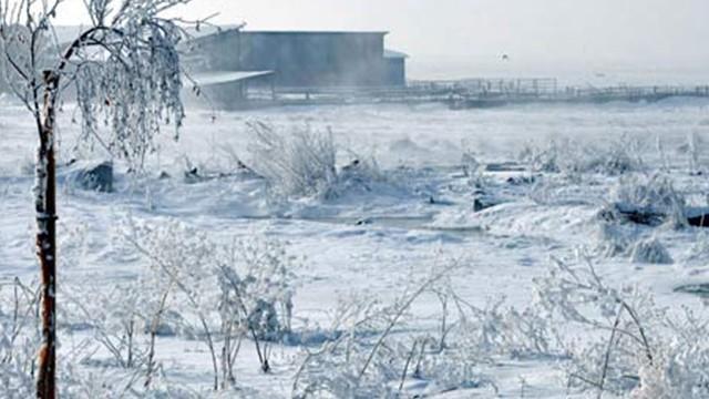 Erzurum'daki soğuk, Antarktika'yı geçti!
