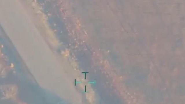 Türk jetleri El Bab'a böyle bomba yağdırdı