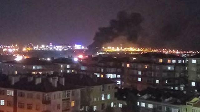 İniş yapmaya çalışan özel jet Atatürk Havalimanı'na düştü