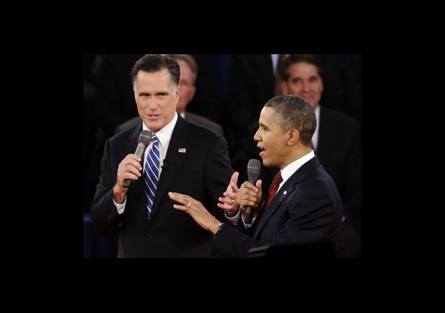 Romney ve Obama Espri Yarışına Girdi