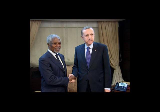 Erdoğan ve Annan Telefonla Görüştü
