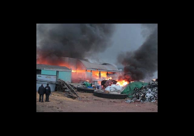 Bolu Çimento Fabrikasında Yangın