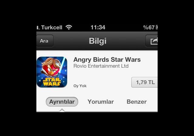 Angry Birds Star Wars Çıktı İndirin!