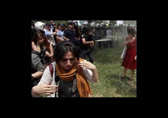 Gezi Parkı'nda Ağaçlar Kesilmesin Nöbeti Devam Ediyor