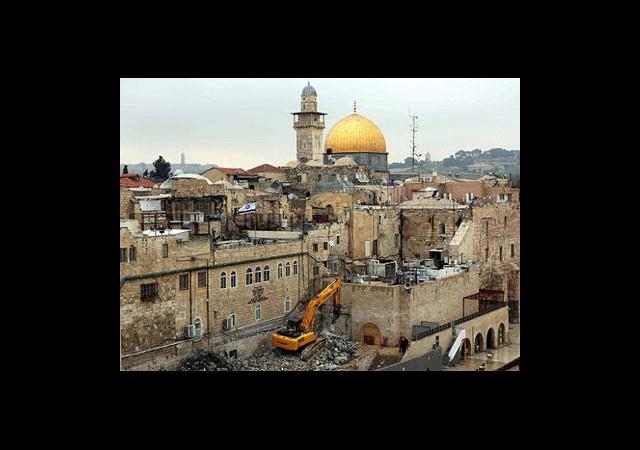 İsrail Tarihi Binaları Yıkıyor