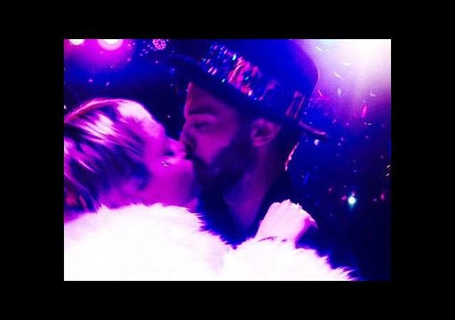 Miley yeni yıla böyle girdi