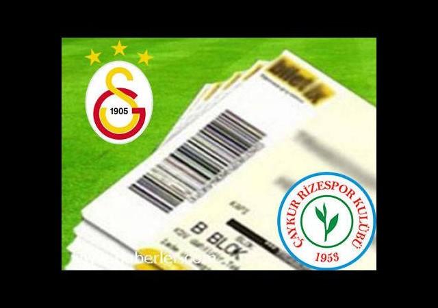 Galatasaray-Çaykur Rizespor maçının biletleri satışa çıktı