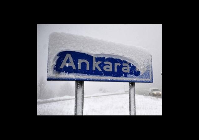 Başkent İçin Kar Uyarısı