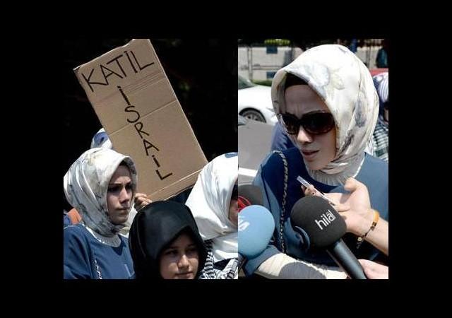 Sümeyye Erdoğan İsrail protestosuna katıldı