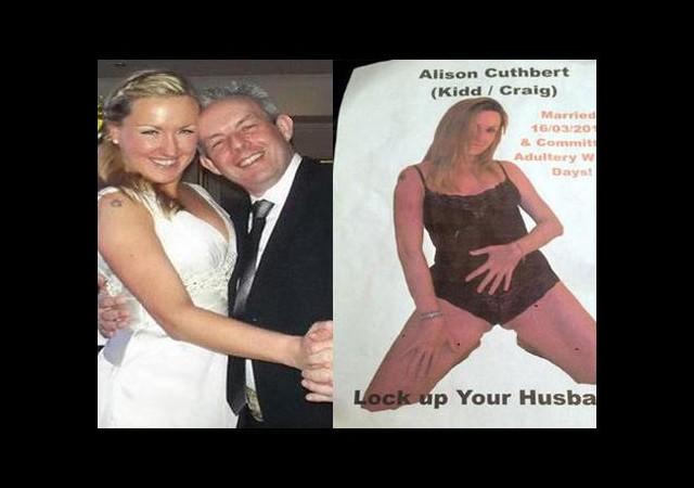Karısının çıplak posterlerini astı!