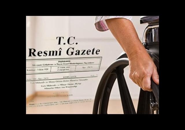 Engelli memur alımları Resmi Gazete'de