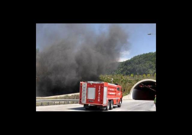 Bolu Dağı Tüneli'nde Yangın!