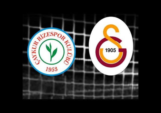 Ç.Rizespor-Galatasaray (Canlı Anlatım)