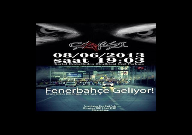 Taraftar Grupları Taksim'e Yürüyor!