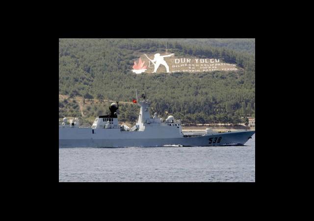Çin Savaş Gemileri Çanakkale Boğazı'nda
