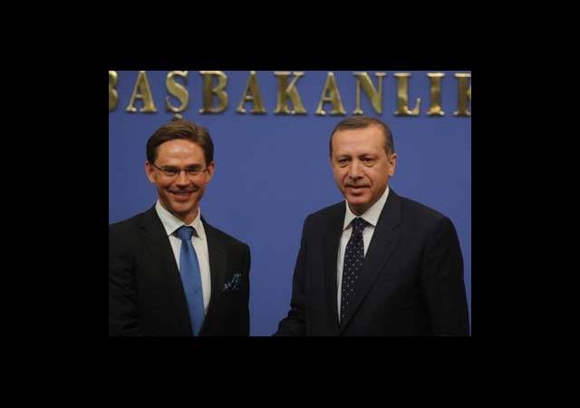 Başbakan Erdoğan ve Katainen Ortak Basın Toplantısı Düzenlediler