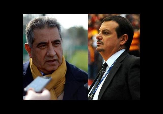 İşte o an! Ergin Ataman ve Mahmut Uslu...
