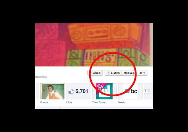 Facebook'a müzik butonu eklendi!