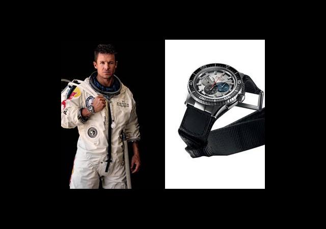 Zenith, Felix Baumgartner'ın Saatini Bağışlıyor