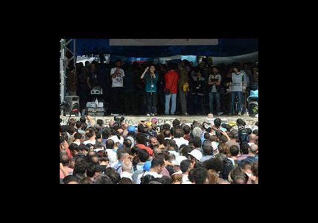 Gezi'de Forum ve Anma Töreni