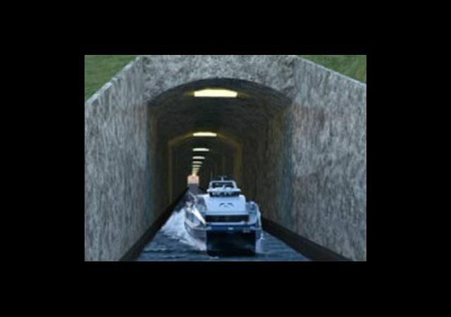 İlk Gemi Tüneli İçin Düğmeye Basıldı