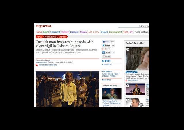 'Duran Adam' Dünya Basınında