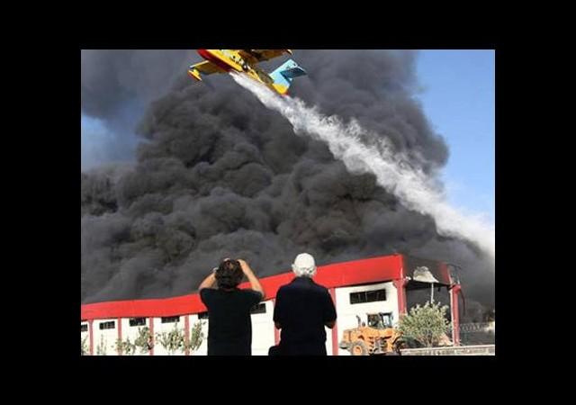 Halı fabrikasında yangın!