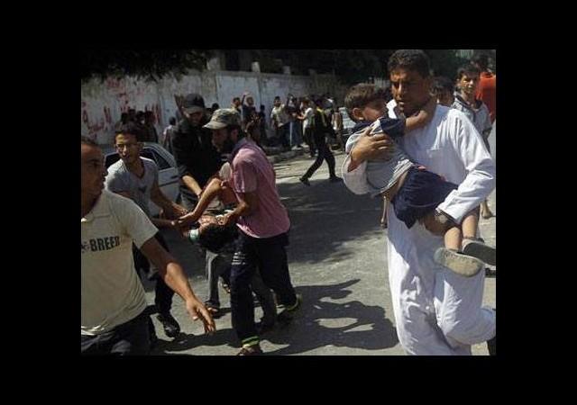 İsrail yine BM okulunu vurdu