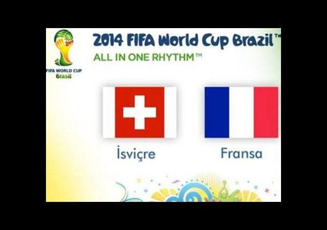 İsviçre - Fransa maçı saat kaçta?